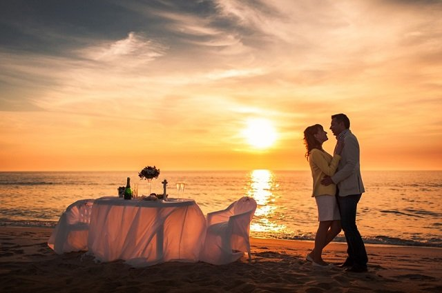 романтика ужин любовь море район